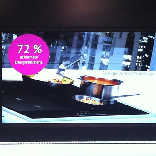 #Siemens Kochstelle mit Anzeige des Energieverbrauchs #ifa13 #ifa
