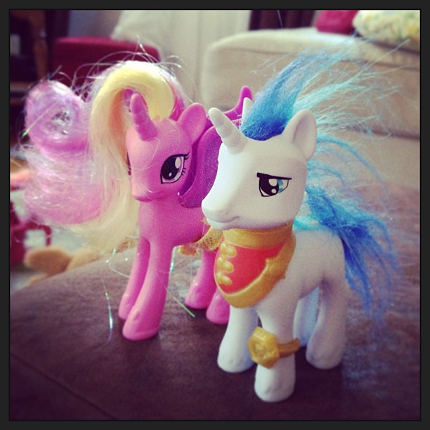 Behold my pony hairstyling abilities. (yes my daughter made me instagram this) #mlp #girlmom