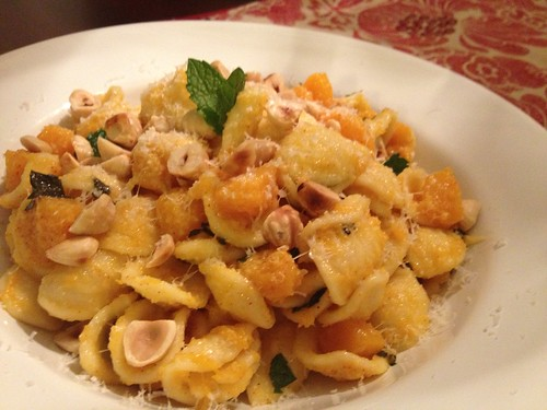 Orecchiette with Squash, Chiles, and Hazelnuts Sarah