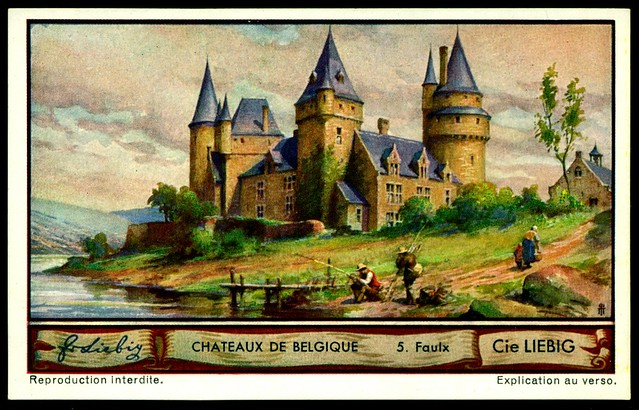 Liebig Tradecard S1288 Belgian Chateaux ~ Faulx