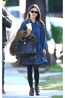 Rachel Bilson Denim Dress Celebrity Style Women's Fashion