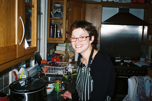 Diane cookin' in Kitchen
