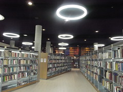 Inside the Library of Birmingham - Level 2: Knowledge Floor - shelves