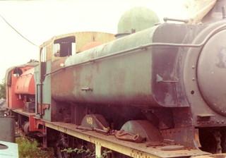 GWR 0-6-0PT 3650 & 0-4-0ST, GWS Didcot 30.08.1976