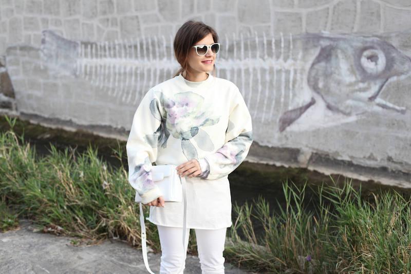 Acne Flower Print Sweatshirt