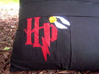 Back of HP pillow