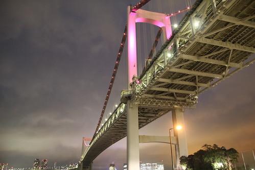 レインボーブリッジ(after リーフからの電力供給でライトアップ)