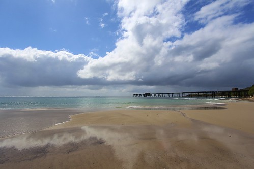 ocean beach nature clouds canon landscape bay jetty australia nsw lakemacquarie canoneos650d