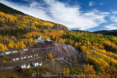 autumn fall colorado mine ghosttown gilman
