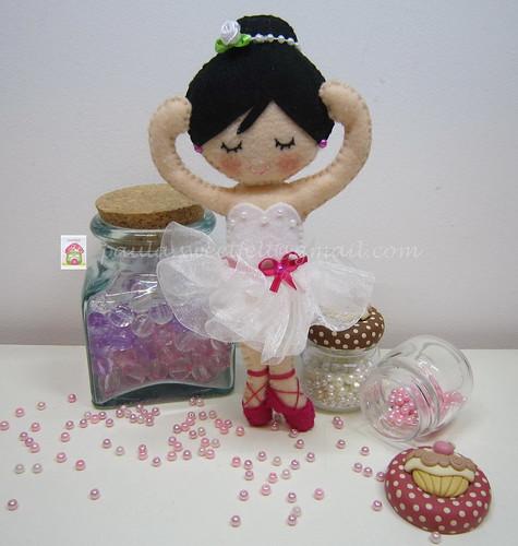 ♥♥♥ A bailarina da Ambre... by sweetfelt \ ideias em feltro