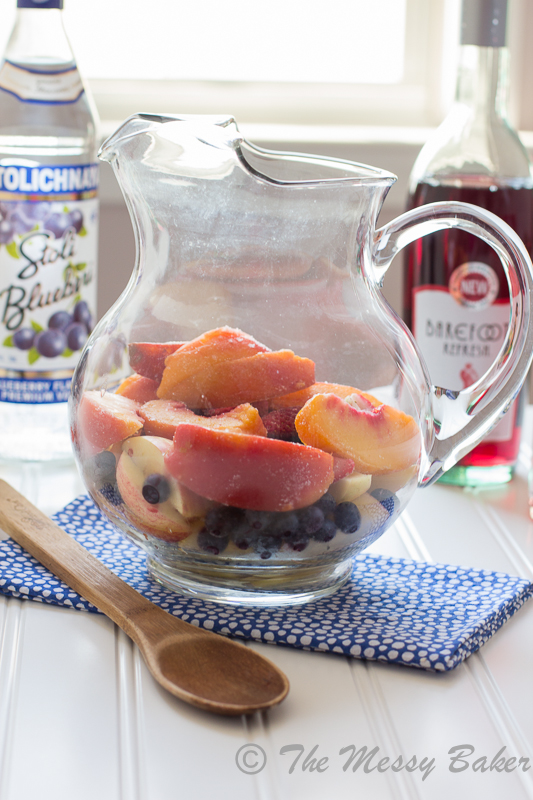 Wicked Blueberry Pomegranate Sangria | www.themessybakerblog.com-8793
