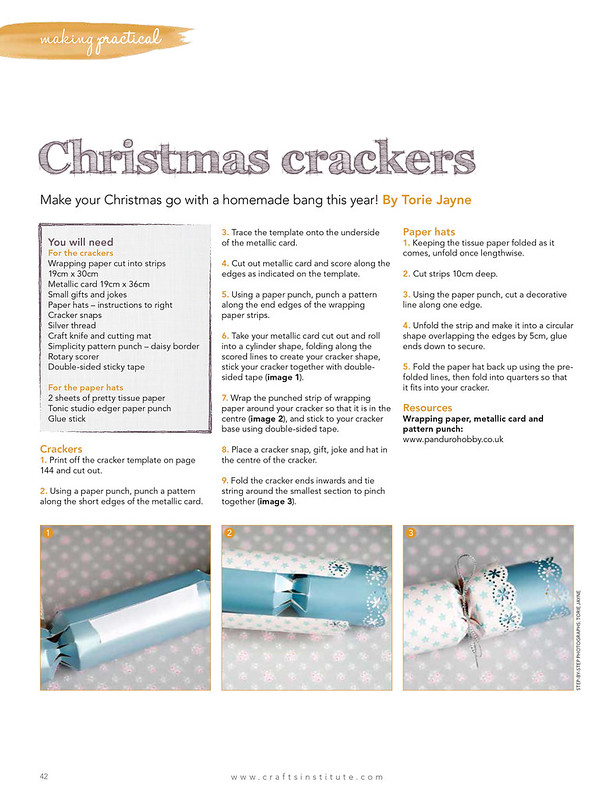 Christmas crackers instructions