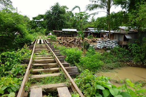 Tracks of the Bamboo Train in Battambang, Cambodia