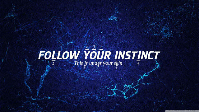 Follow your instinct wallpaper