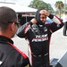 Juan Pablo Montoya prepares his gear prior to his first testing laps for Team Penske at Sebring