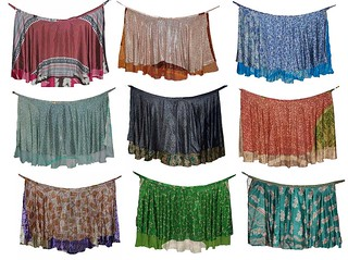 Sarong reversible wrapskirt vintage sari hippie skirts beach wear dresses