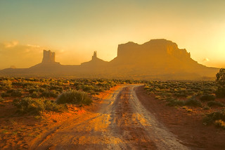 Track to Monument Valley