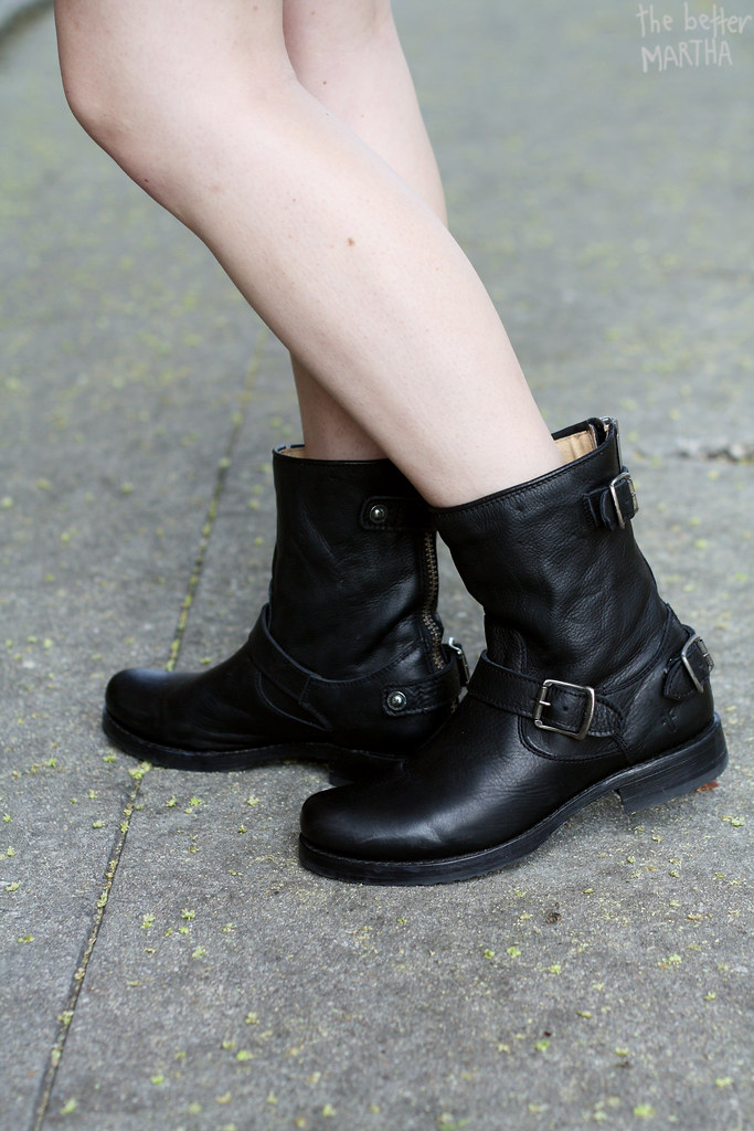 Side of boots Frye