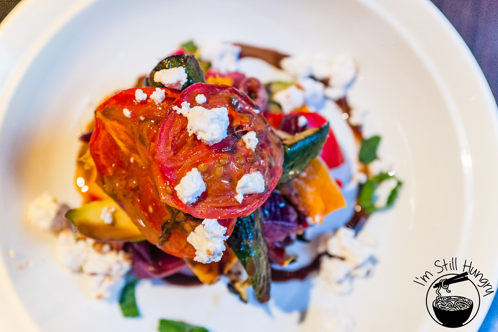 Pumpkin & roast vegetable salad w/Persian feta & fresh mint Jones the Grocer