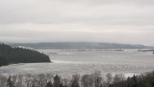 Fog over ice