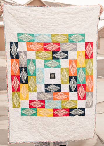 Accuquilt Tutorial Quilt - Pezzy Pyramid