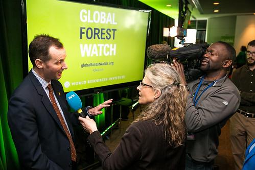 「全球森林觀察」(Global Forest Watch)網站上線發表會。(來源:World Resources Institute)