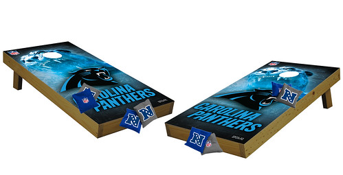Carolina Panthers Premium Cornhole Boards
