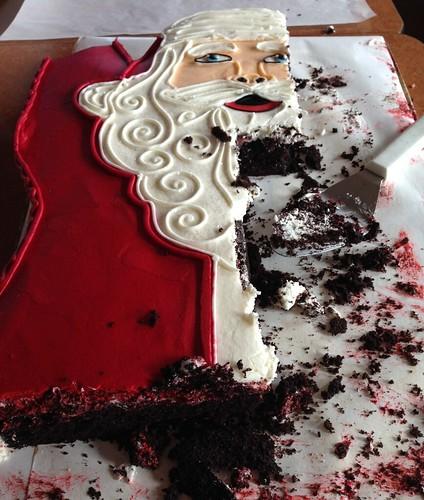 Santa statue cake - deeeeelish!
