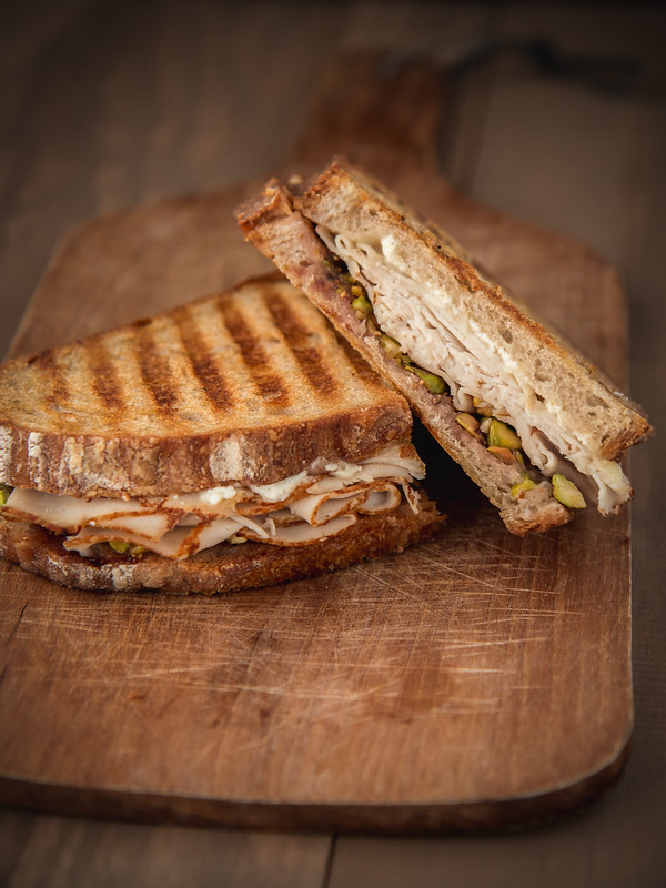 Turkey, Fig, Goat Cheese, & Pistachio Panini | Will Cook For Friends