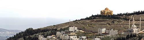panorama palestine nablus panoramic naplouse gerzim