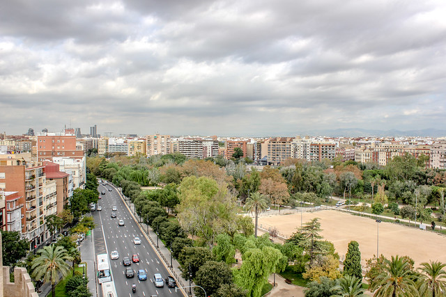 Valencia desde las Torres de Serranos.