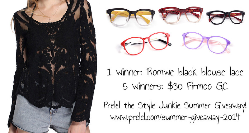 Romwe Black Lace Blouse and Firmoo Glasses Summer Giveaway 2014