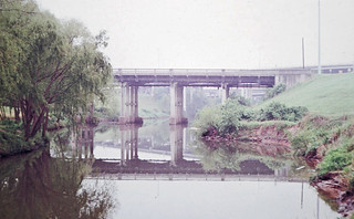 Sabine Street Bridge over Buffalo Bayou, Houston, Texas, April, 1977