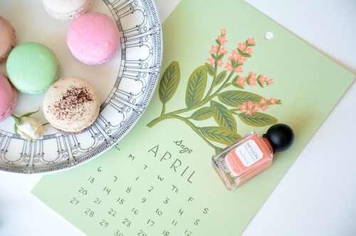 Anna bond calender and revlong perfumerie