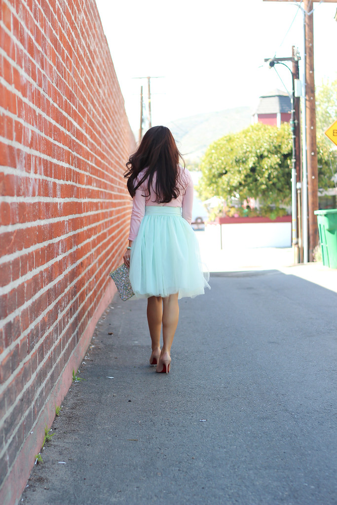 Mint Tulle Skirt and Blush Tee-11