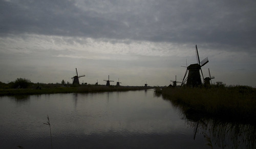 Dawn at Kinderdijk