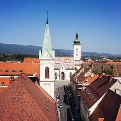 8월에 휴가를 떠나는 친구때문에 다시 들춰본 2013년 가을의 크로아티아 #Travel #Memories #Throwback #2013 #Autumn #Zagreb #Croatia 자그레브에서의 순간들 #Old #Town #Landscape #View #Street #Church #Roof #Tile #Pattern