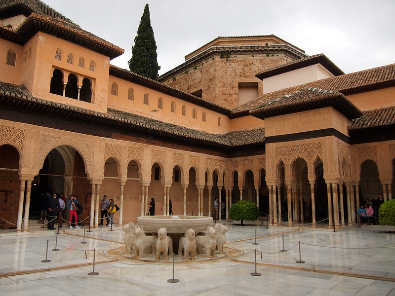 Patio de los Leones in the Alhambra