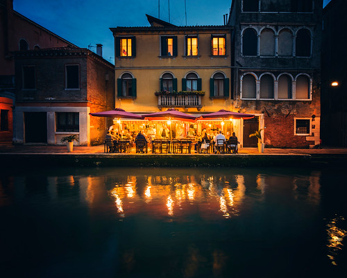 Dinner by the Canal in Venice
