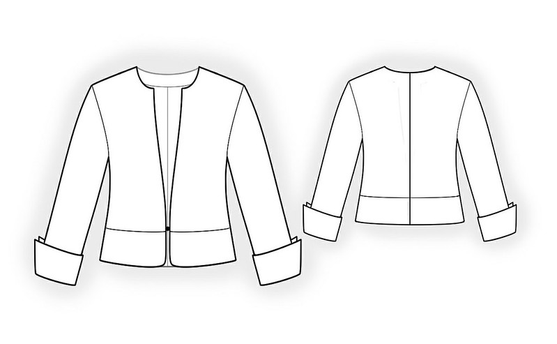 Lekala 4108 short jacket 186_technical_drawing_924