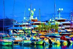 NathalieLauro, grafic art, digital art, colors, design, variations,boats, habor, sea, sun,  , Monaco, Monte Carlo, French Riviera, Cannes. Marseille, Corsica,Hambour, (79)