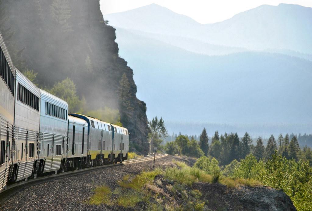"""Amtrak """"Empire Builder"""" Montana"""