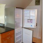 Fridge with freezer drawers on bottom