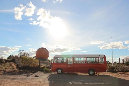 big bus meets big orange
