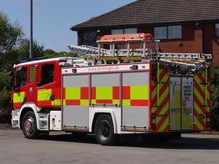 South Yorkshire Fire & Rescue Service Scania P320 Water Ladder