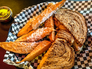 Reuben with Sweet Potato French Fries