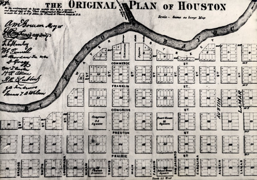Original Plan of Houston map