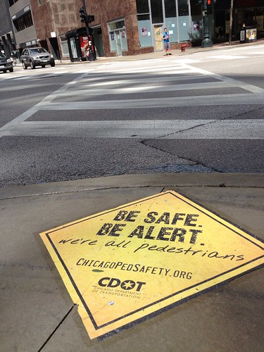 Be safe. Be alert. We're all pedestrians.