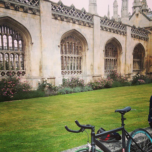 A few hours on the bike later: Cambridge!