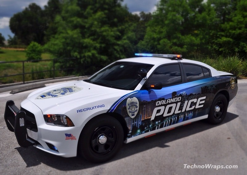 Police car graphics wrap in Orlando, Florida